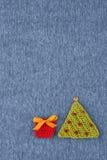 Gebreide prentbriefkaar met Kerstmis Royalty-vrije Stock Fotografie