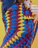 Gebreide sjaal stock afbeelding