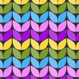 Gebreide stof Imitatie van dik het breien Naadloos patroon in de vorm van een zigzag stock illustratie