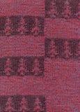 Gebreide stof met een patroon van horizontale strepen in een visgraatpatroon Royalty-vrije Stock Foto