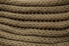 Gebreide stoffentextuur en achtergrond Groene Gebreide stoffentextuur Royalty-vrije Stock Fotografie