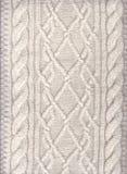 Gebreide textuur Gebreide achtergrond Een patroon van draden stock foto's