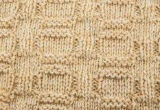 Gebreide textuur beige draad royalty-vrije stock foto