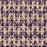 Gebreide textuur gevormde chevron Royalty-vrije Stock Foto