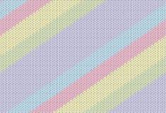 Gebreide textuur met een diagonale streep Stock Afbeelding