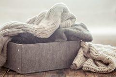 Gebreide warme sweaters Royalty-vrije Stock Fotografie