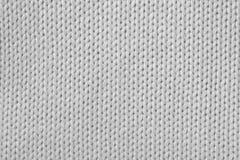 Gebreide witte stof Royalty-vrije Stock Foto