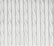 Gebreide witte textuur royalty-vrije stock fotografie