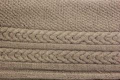 Gebreide wol breiende stof Handwork verwezenlijking stock foto