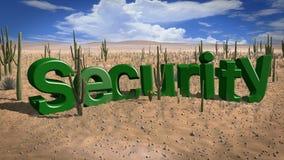Gebrek aan heet de dagconcept van de veiligheidswoestijn Royalty-vrije Stock Fotografie