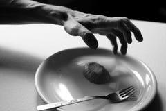 Gebrek aan voedsel - honger stock afbeeldingen