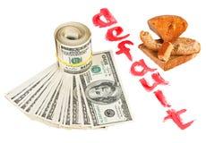 Gebrek van van de de dollarmunt van de V.S. het conceptenfoto Stock Foto