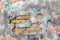 Gebrochene alte Wand des Schmutzes Lizenzfreies Stockbild