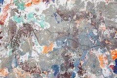 Gebrochene alte Wand des Schmutzes Stockfoto