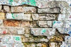 Gebrochene alte Wand des Schmutzes Lizenzfreies Stockfoto