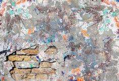 Gebrochene alte Wand des Schmutzes Stockfotos