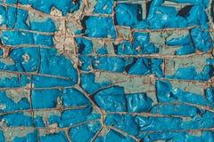Gebrochene azurblaue Farbe Geometrische Verzierung auf einem alten Papier Stockfoto