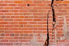 Gebrochene Backsteinmauer Lizenzfreie Stockfotografie