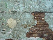 Gebrochene Beschaffenheit der Farbe Alte Farbe auf Holzoberflächenahaufnahme Ansicht der Spitze, Makrophotographie färbte Beschaf Lizenzfreies Stockfoto