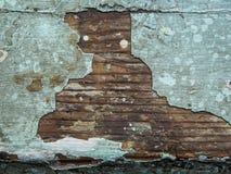 Gebrochene Beschaffenheit der Farbe Alte Farbe auf Holzoberflächenahaufnahme Ansicht der Spitze, Makrophotographie färbte Beschaf Stockfotos