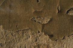 Gebrochene Beschaffenheitsoberfläche des alten Gipses auf Wand Stockfotos