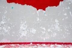 Gebrochene Betonmauer Stockfoto