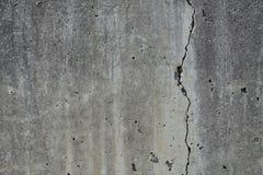 Gebrochene Betonmauer stockbild