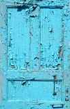 Gebrochene blaue Tür Lizenzfreies Stockfoto