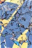 Gebrochene blaue Wand Lizenzfreies Stockbild