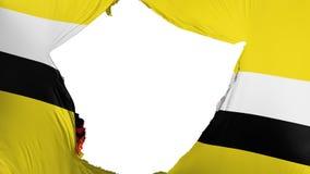 Gebrochene Brunei-Flagge lizenzfreie abbildung