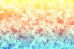 Gebrochene bunte Beschaffenheit Mehrfarbige Oberfläche mit Kratzern entziehen Sie Hintergrund Mosaiktapete Stockfoto