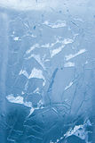 Gebrochene Eisoberfläche (Hintergrund, Beschaffenheit) Lizenzfreie Stockfotos