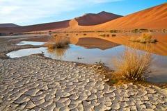 Gebrochene Erde in der namibischen Landschaft Stockbilder