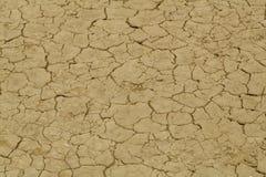 Gebrochene Erde von der Hitze Stockfotos