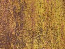 Gebrochene Farbe auf einem alten rostigen Zaun Lizenzfreie Stockfotos