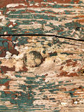 Gebrochene Farbe auf hölzernem Brett Stockfotos