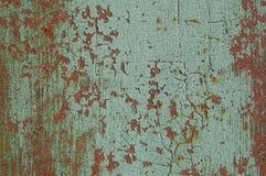 Gebrochene Farbe auf Metall Lizenzfreie Stockfotos