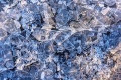 Gebrochene kühle Eisbeschaffenheit in Island sein defektes Stockfoto