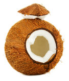 Gebrochene Kokosnuss Lizenzfreies Stockfoto
