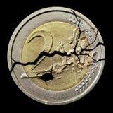 Gebrochene Münze Stockbilder