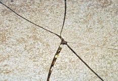 Gebrochene Oberfläche Stockbild