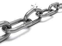 Gebrochene Stahlkette lizenzfreie abbildung