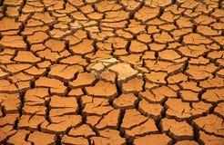 gebrochene trockene Erde Lizenzfreies Stockfoto