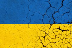 Gebrochene Ukraine-Flagge - Krise lizenzfreie abbildung