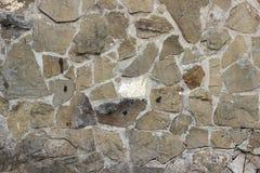 Gebrochene Wand gezeichnet mit einem Stein lizenzfreie stockfotos