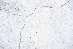 Gebrochene weiße Gips-Wand Stockfotografie