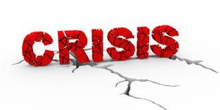 gebrochener Boden der Krise 3d und der Erde Lizenzfreies Stockfoto