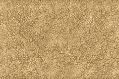 Gebrochener Boden und schmutziger Boden in einer trockenen Wüste lizenzfreie abbildung