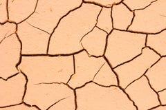 Gebrochener Bodenboden, Dürrenland so lang wasserlos, Nahaufnahme Lizenzfreies Stockfoto