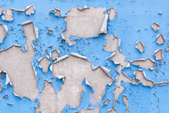 Gebrochener Lack auf einer Wand Stockfoto
